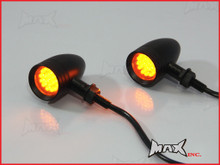 Black Alloy LED Custom Turn Signals / Indicators - Smoked Lense