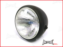 7.7 INCH Matte Black Universal Large Metal Classic Headlight
