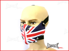 Union Jack Bikers Face Mask - PU Leather