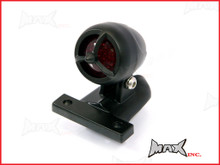 Matte Black Aluminium Mini Custom LED Stop / Tail Light - Red Lense