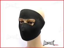 Black Plain Neoprene Bikers Full Face Mask