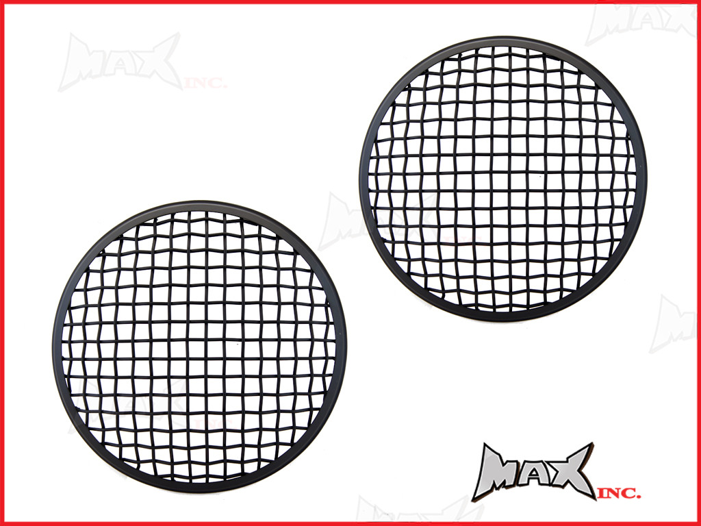7 INCH Matte Black Mesh Grill Metal Headlight Covers