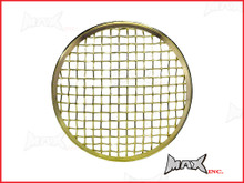 7 INCH Brass Chrome Mesh Grill Metal Headlight Cover