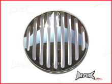 7 INCH Chrome Prison Bar Grill Metal Headlight Cover