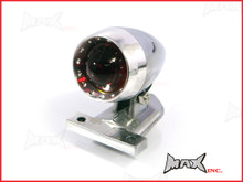Polished Aluminium Bullet LED Stop / Tail Light - Red Lense