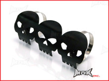 Black Willys Skull Universal Metal Exhaust Guard