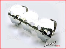 Chrome Willys Skull Universal Metal Exhaust Guard