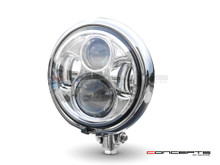 "5.75"" Bates Style LED Daymaker Chrome Metal Headlight"