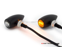 MAX Matte Black Machined Aluminium Micro Bullet LED Indicators / Turn Signals