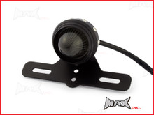 Matte Black Studded Retro Style LED Stop / Tail Light - Smoked Lens