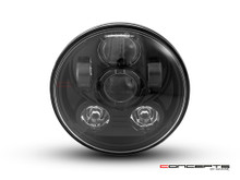 "5.75"" Black Six Projector LED Headlight Insert - 45w"
