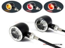 Black + Alum Bezel CNC Machined Billet Alum Classic Integrated LED Stop / Tail Lights + Turn Signals