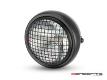 "6"" Matte Black Universal Metal Headlight + Mesh Grill - Emarked"