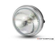 "6"" Matte Black + Chrome Universal Metal Classic Headlight - Emarked"