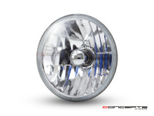 "7"" Crystal Semi Sealed Beam Insert - 55w Halogen Bulb"