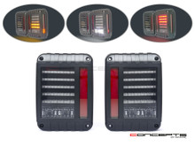 Jeep Wrangler JK / Rubicon Euro Style LED Integrated Tail Lights
