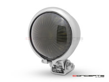 Chrome Mini Bates LED Stop / Tail Light - Smoked Lens