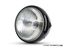 7.7' Gloss Black Universal Metal Classic Headlight - DOT Approved