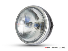 7.7' Gloss Black + Chrome Universal Metal Classic Headlight - DOT Approved