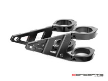 MAX Stomp Black CNC Machined Headlight Brackets - 44/45mm Diameter