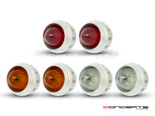 "2.75"" Universal Polished Alum LED Stop / Tail Lights + Turn Signals + Reverse Lights - Set Of 6"