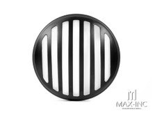"5.75"" Black Prison Bar Grill Metal Headlight Cover"