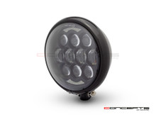 "5.75"" Bates Style LED Multi Projector Gloss Black Metal Headlight + DRLS"