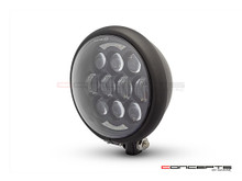 "5.75"" Bates Style LED Multi Projector Matte Black Metal Headlight + DRLS"