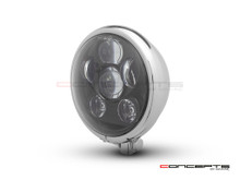 "5.75"" Bates Style LED Six Projector Chrome Metal Headlight"