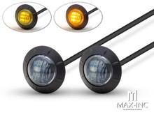 "2"" Flush Mount Sealed Smoked Lens LED Running Lights / Turn Signals - Set Of 2"