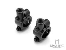 Universal 22mm Alloy Handlebar Mirror Mounts - M10 / Right Hand Thread