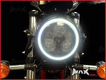 14cm White Super Bright LED Angel Eye Halo Ring