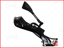 High Quality Black Plastic / Aluminium Hand Guards - Fits 7/8 Bars