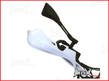High Quality White Plastic / Aluminium Hand Guards - Fits 7/8 Bars