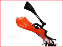 High Quality Orange Plastic / Aluminium Hand Guards - Fits 7/8 Bars