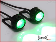 Super Bright Green 3w CREE LED Mirror Mount Fog / Drl Lights