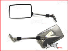Pair Of Universal Chrome CB Style Mirrors - 10mm