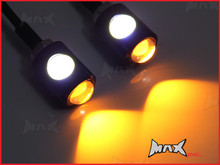 Black LED License / Number Plate Bolts with Integrated Turn Signals
