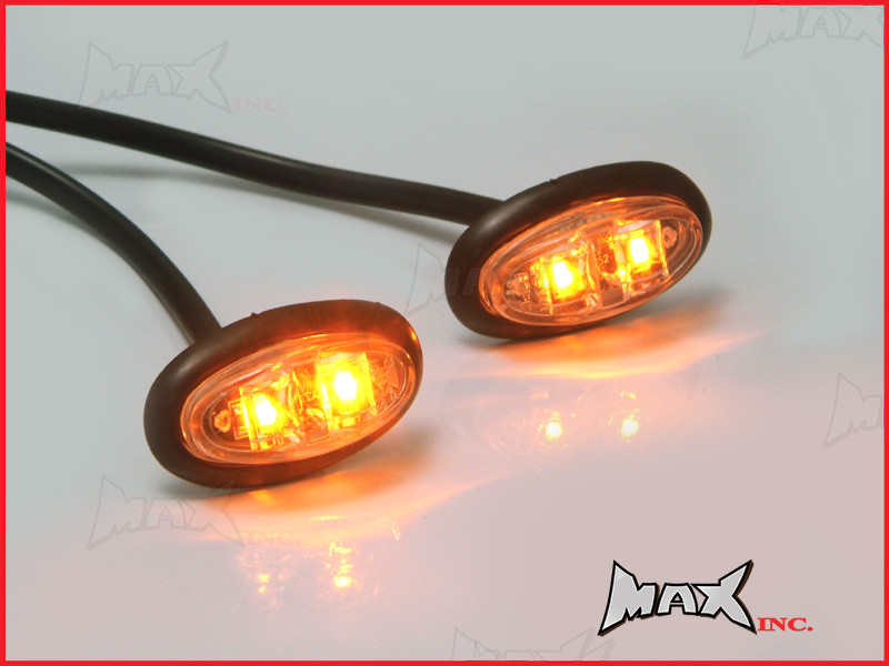 Amber 12v Oval Flush Mount Led Mini Marker Lights Www