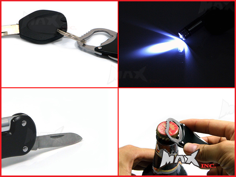 Ford Falcon Gt Lasered Logo Keyring Pocket Knife Led Torch Bottle Opener