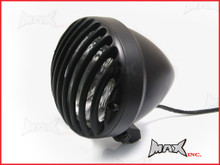 6.5 INCH Matte Black Universal Aluminium Prison Bar Headlight
