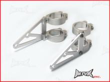 MAX High Quality CNC Machined Silver Headlight Brackets - 32/33mm Diameter