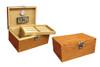 Prestige Import Group Princeton Bubinga 130-Cigar Humidor - Interior and Exterior