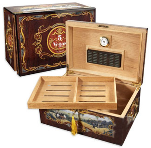 5 Vegas Tradition Desktop Humidor - 100 Cigars