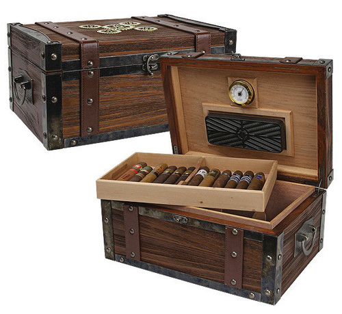 Steampunk Trunk Humidor - 100 Cigars