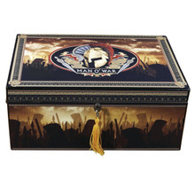 Man O' War Deluxe Desktop Humidor - 100 Cigars