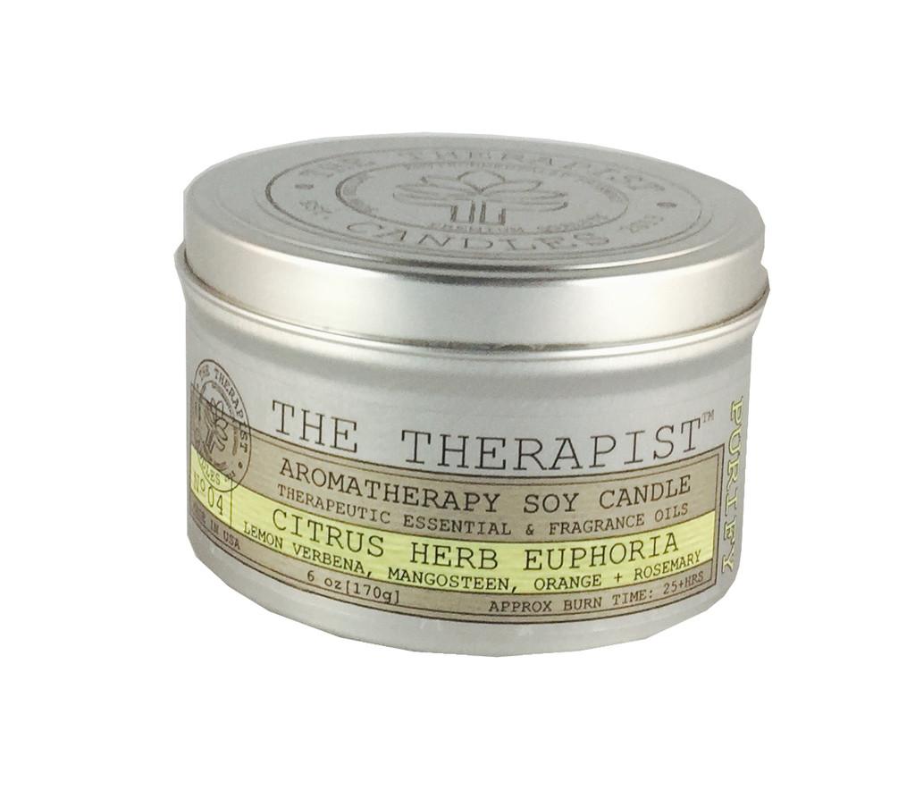 No. 04 Citrus-Herb Euphoria Soy Candle - Travel Tin 6 oz