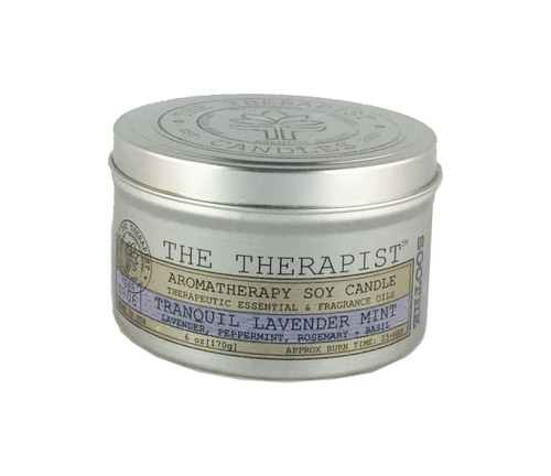 No. 06 Tranquil Lavender Mint Soy Candle - Travel Tin 6 oz