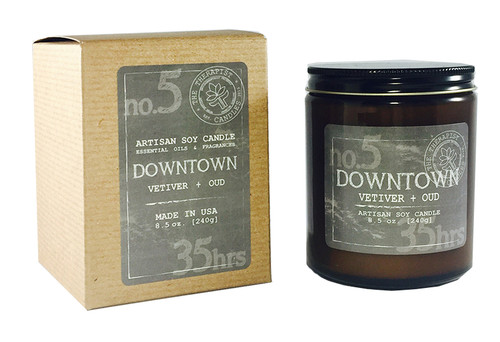 A seductive yet sophisticated masculine scent with hints of citrus, deep woods and serene florals.  This candle is infused with carefully selected luxurious fragrances, essential oils of cedarwood,fir, orange, patchouli, musk and vetiver that are believed to calm the mind.