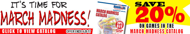 Save 20% off March Madness games